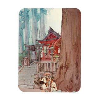 Cool oriental japanese classic temple shrine art magnet