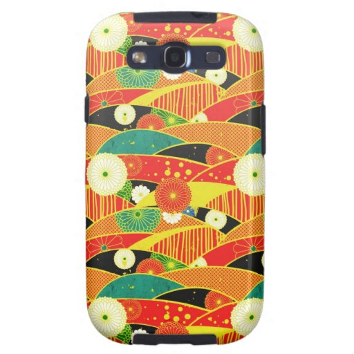 Cool oriental japanese colourful pattern samsung galaxy s3 case