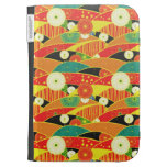 Cool oriental japanese colourful pattern kindle folio case