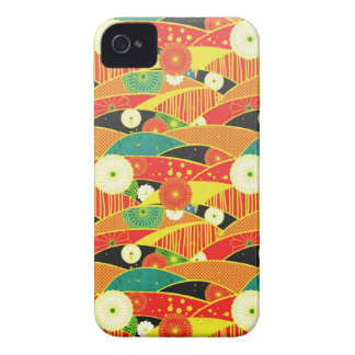 Cool oriental japanese colourful pattern iPhone 4 cases