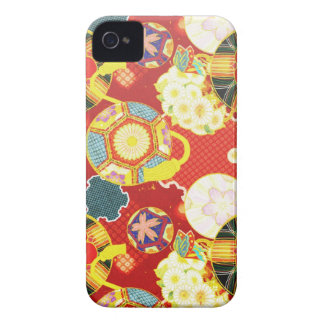 Cool oriental japanese colourful pattern iPhone 4 cover