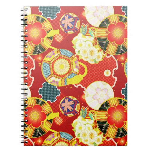 Cool oriental japanese colourful pattern journals