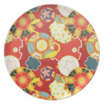 Cool oriental japanese colourful pattern plates