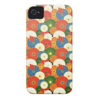 Cool oriental japanese colourful umbrela pattern iPhone 4 cover