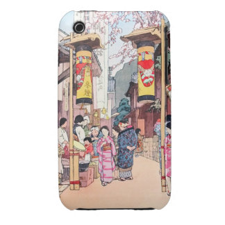 Cool oriental japanese country festival painting iPhone 3 case