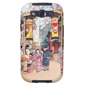 Cool oriental japanese country festival painting samsung galaxy s3 cases