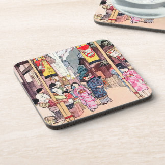 Cool oriental japanese country festival painting coaster