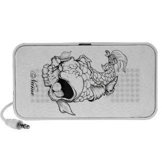 Cool Oriental Japanese Dead Koi Fish Carp Skull Portable Speakers