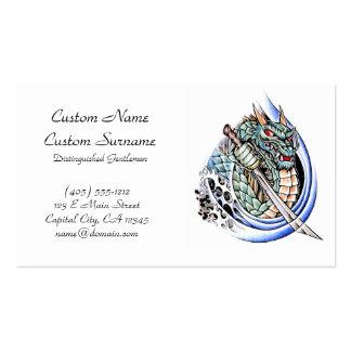 Cool oriental japanese dragon god tattoo business business card
