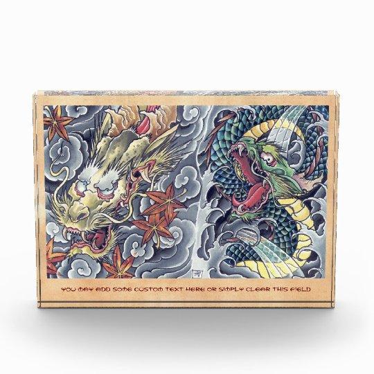 Cool oriental japanese dragon god tattoo storm award