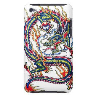Cool oriental japanese dragon with orb tattoo iPod Case-Mate case