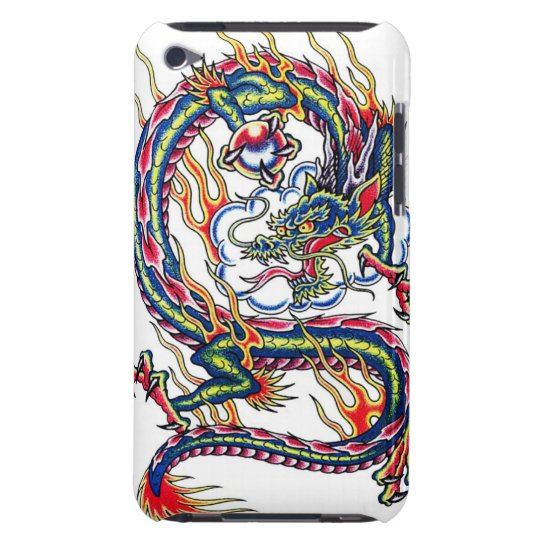 Cool oriental japanese dragon with orb tattoo iPod touch Case-Mate case