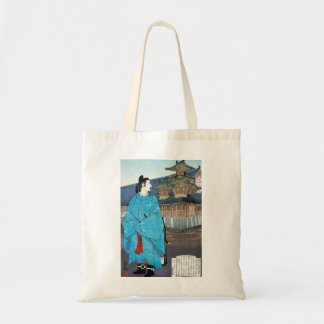 Cool oriental japanese emperor clasic art tote bag