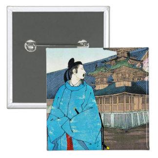 Cool oriental japanese emperor clasic art pins