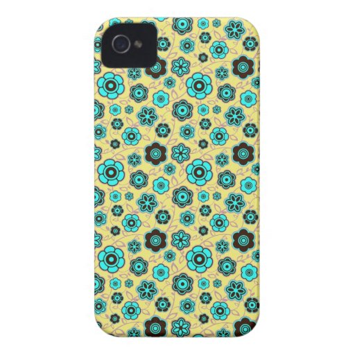 Cool oriental japanese floral flower pattern iPhone 4 case