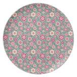 Cool oriental japanese floral flower pattern dinner plate