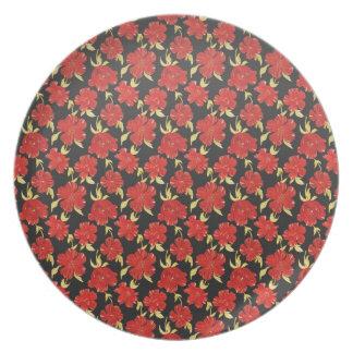 Cool  oriental japanese flower dinner plates