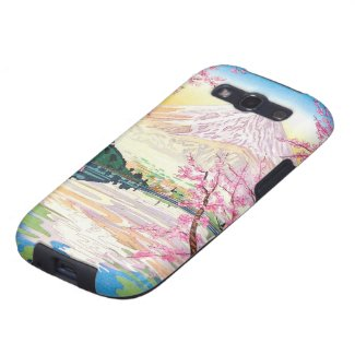 Cool oriental japanese Fuji spring cherry tree art Galaxy SIII Cases