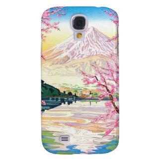 Cool oriental japanese Fuji spring cherry tree art Samsung Galaxy S4 Covers