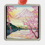 Cool oriental japanese Fuji spring cherry tree art Ornament