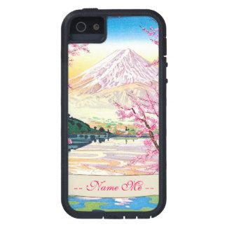 Cool oriental japanese Fuji spring cherry tree iPhone SE/5/5s Case