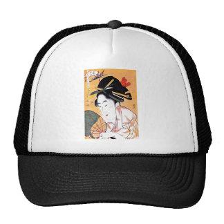 Cool Oriental Japanese Geisha Portrait Trucker Hat