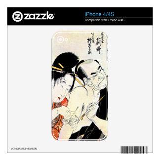 Cool Oriental Japanese Geisha Tattoo art iPhone 4S Decal