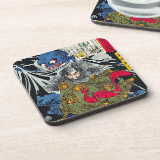 Cool oriental japanese ghost and deamons art coaster