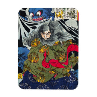 Cool oriental japanese ghost and deamons art magnet