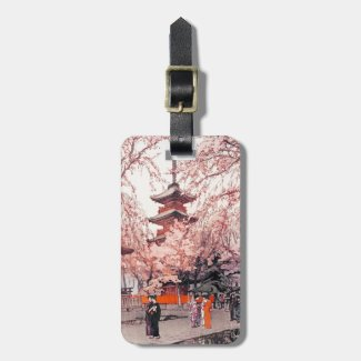 Cool oriental japanese glimpse Ueno Park Tag For Luggage