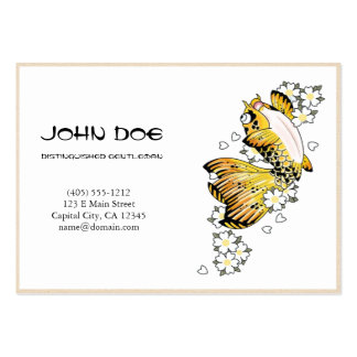 Cool oriental japanese gold ink lucky koi fish business card template