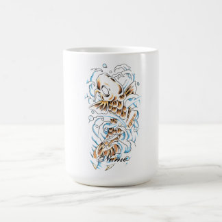 Cool Oriental Japanese Gold Koi Carp Coffee Mug