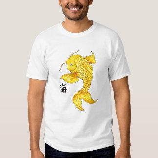 Cool Oriental Japanese Gold Koi Fish Carp tattoo Tee Shirt