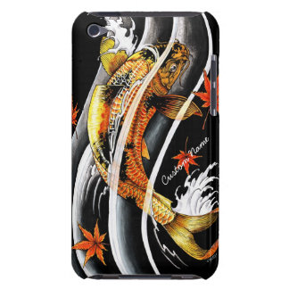Cool oriental japanese Gold Lucky Koi Fish tattoo Barely There iPod Cover