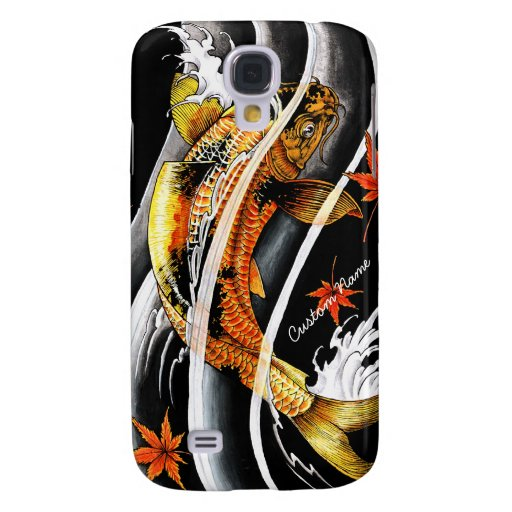Cool oriental japanese gold lucky koi fish tattoo samsung for Cool koi fish