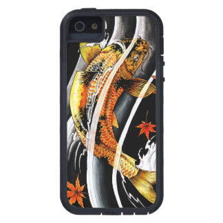 Cool oriental japanese Gold Lucky Koi Fish tattoo Case For iPhone SE/5/5s