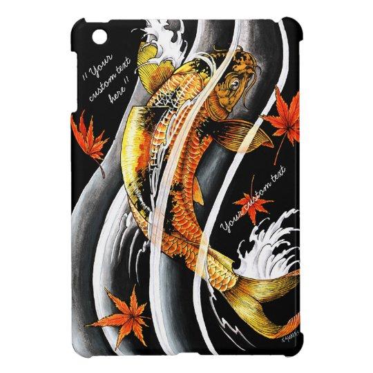 Cool oriental japanese Gold Lucky Koi Fish tattoo iPad Mini Cover
