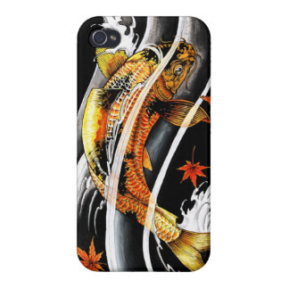 Cool oriental japanese Gold Lucky Koi Fish tattoo iPhone 4 Cover