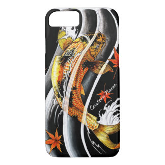 Cool oriental japanese Gold Lucky Koi Fish tattoo iPhone 8/7 Case