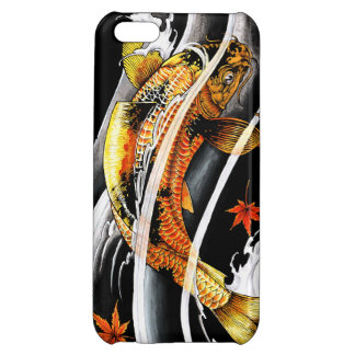 Cool oriental japanese Gold Lucky Koi Fish tattoo iPhone 5C Covers