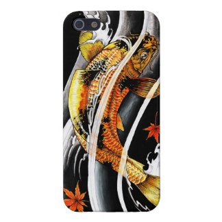 Cool oriental japanese Gold Lucky Koi Fish tattoo iPhone SE/5/5s Case