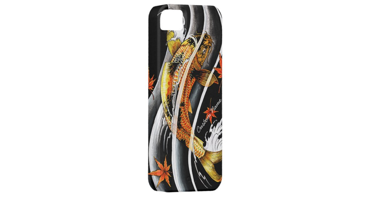 Cool oriental japanese gold lucky koi fish tattoo iphone for Lucky koi fish