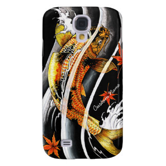 Cool oriental japanese Gold Lucky Koi Fish tattoo Samsung Galaxy S4 Cover