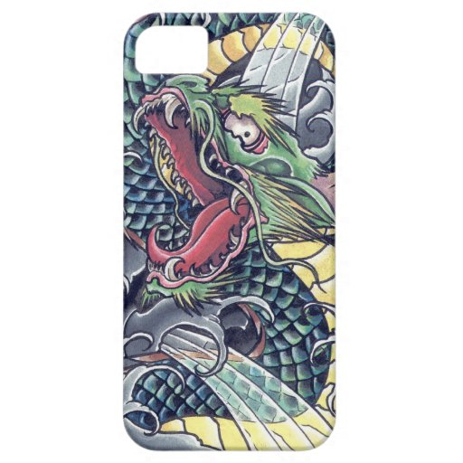Cool oriental japanese green dragon god tattoo art iphone for Tattoo artist iphone cases