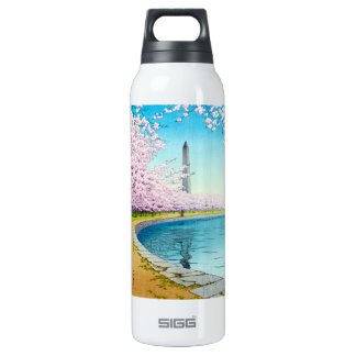 Cool oriental japanese Hasui Kawase autumn scene 16 Oz Insulated SIGG Thermos Water Bottle