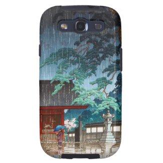 Cool oriental japanese Hasui Kawase rainy scene Galaxy SIII Cases