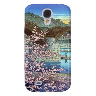 Cool oriental japanese Hasui kawase river bridge Samsung Galaxy S4 Case