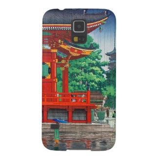 Cool oriental japanese hasui Kawase shrine in rain Galaxy S5 Case