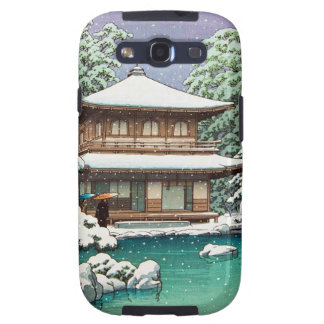 Cool oriental japanese Hasui Kawase winter scene Galaxy S3 Case