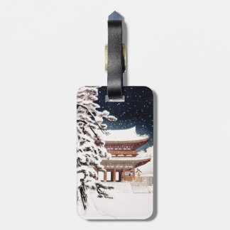 Cool oriental japanese Hasui Kawase winter scenery Luggage Tags